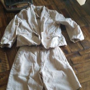 Linen Shorts and blazer
